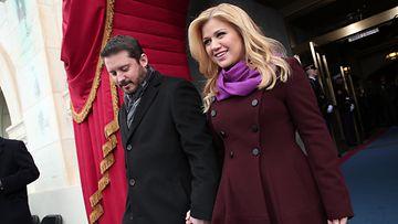 Brandon Blackstock ja Kelly Clarkson 21.1.2013