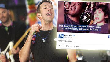 Coldplay live autistinen lapsi 2016
