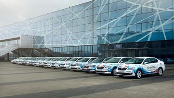 160427 Official fleet ŠKODA makes the IIHF Ice Hockey World Championship in Russia mobile (2)