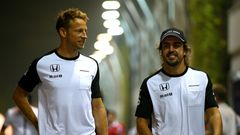 Jenson Button ja Fernando Alonso