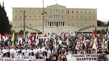 ateena kreikka mielenosoitus