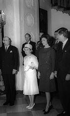 Suomen ja Yhdysvaltain presidentit Urho Kekkonen ja John F. Kennedy