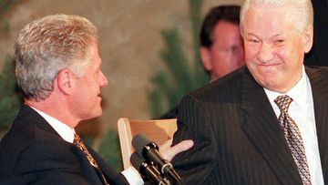 Bill Clinton ja Boris Jeltsin