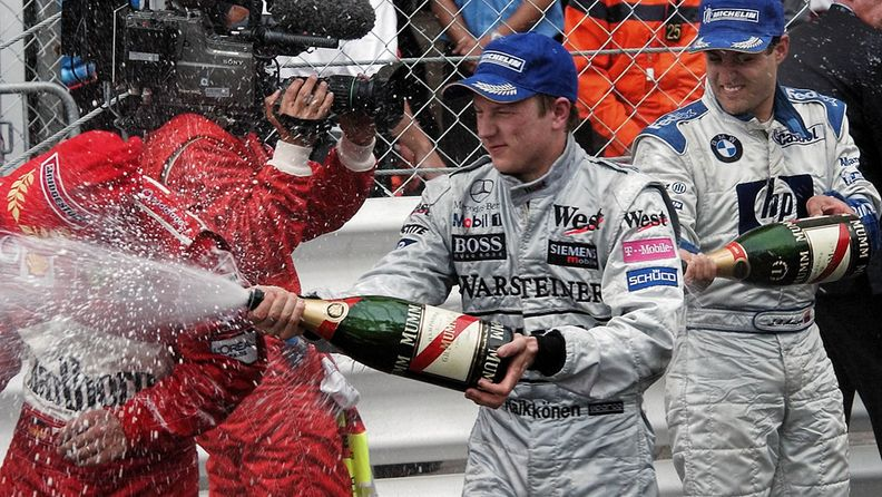 Kimi Räikkönen, Michael Schumacher, Juan Pablo Montoya, 2003, Monaco