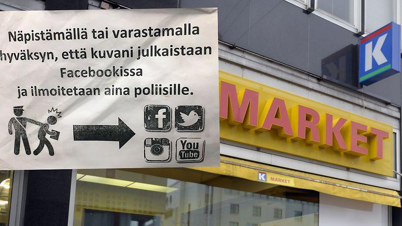 K-kauppa varoitus myymälävaras