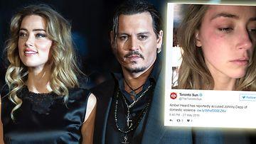 Amber Heard Johnny Depp mustelmakuva 2016