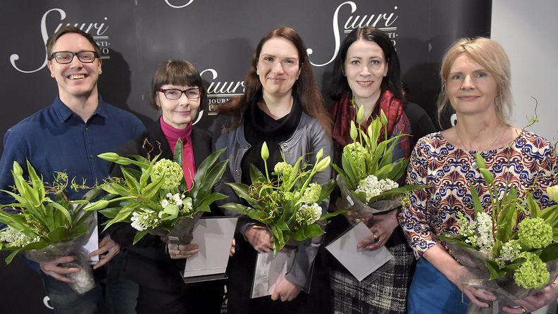 Mikko Hynninen (vas.), Tiina Merikanto, Annukka Roininen, Oili Orispää ja Anne Ali-Hokka
