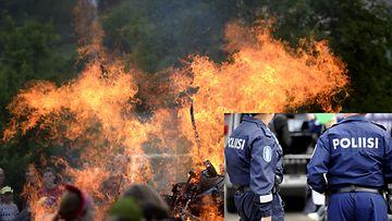 Juhannuksena tunaroitu urakalla ympäri Suomea: Rattijuopot ajoivat sylikkäin, auto poltettiin ...