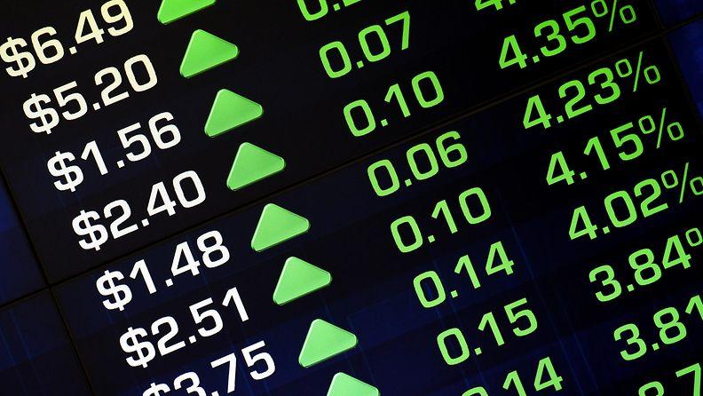 pörssi nousee aasia