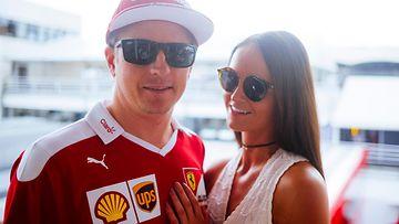 Kimi Räikkönen ja Minttu Virtanen 24.7.2016