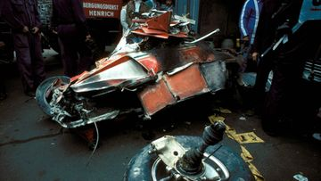 Laudan Ferrari vaurioitui turmassa 1976