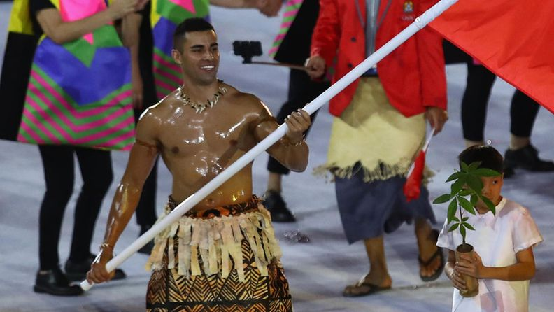Pita Nikolas Taufatofua, 2016, Tonga, olympialaiset, avajaiset