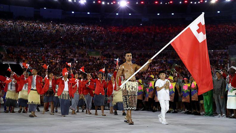 Tonga, Pita Nikolas Taufatofua, avajaiset, olympialaiset, 2016