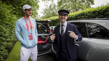 Andy Murray gets early alarm call from Jaguar's Secret Chauffeur