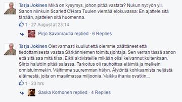 Särkänniemen hallituksen jäsen Tarja Jokinen kommentoi delfiineistä noussutta kohua Facebookissa 3