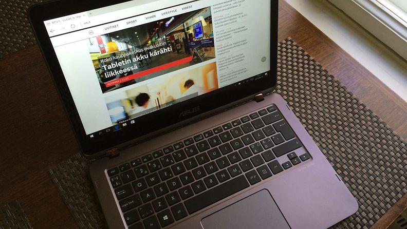Asus ZenBook Flip UX360-ultrakannettava, tietokone, näppäimistö, läppäri, kannettava