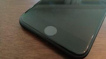 Hopeinen Omena Rikkoutunut kotinäppäin iPhone