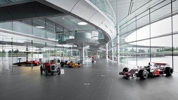 McLaren Technology Centre  - interior - Boulevard