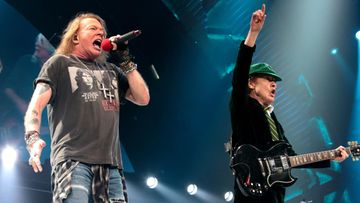 Axl Rose ja Angus Young 20.9.2016
