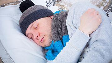 nukkuminen kylmä