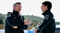 Ross Brawn Toto Wolff 2013