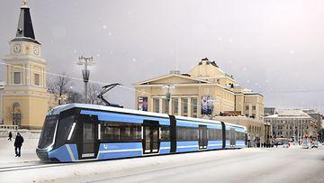 Tampere ratikka havainnekuva