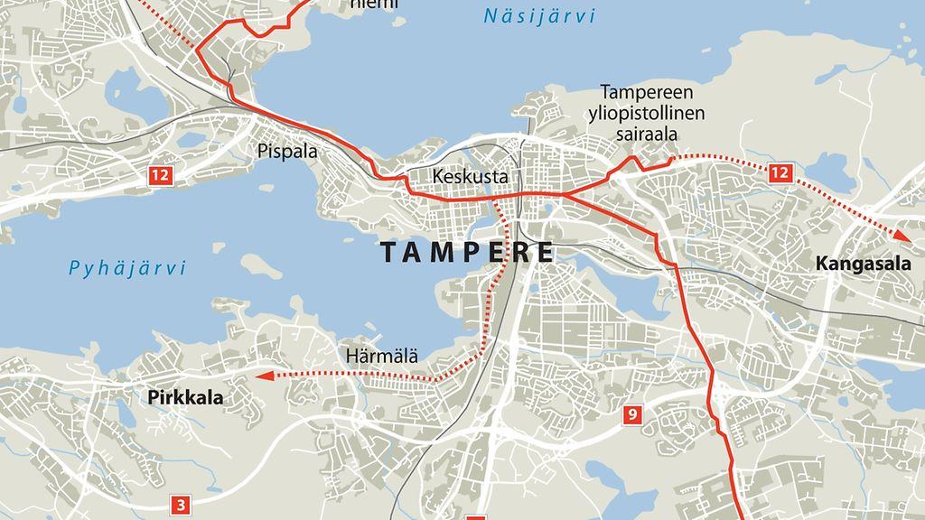 Tampereen Raitiovaunut Maara Ottaa Kayttoon Vuonna 2021 Tassa