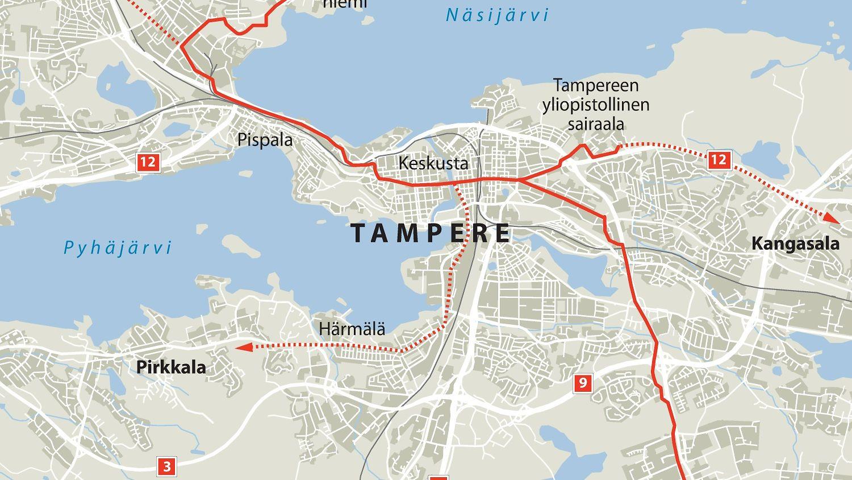 Tampereen raitiovaunut määrä ottaa käyttöön vuonna 2021 – tässä suunniteltu reitti - Kotimaa ...