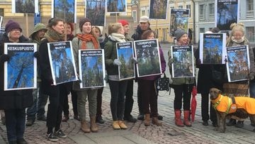 Yleiskaava, Helsinki, mielenosoitus, Senaatintori