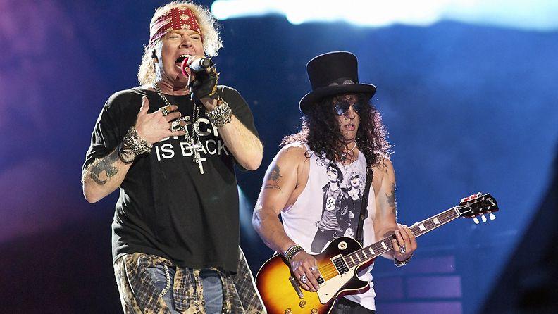 Guns N' Roses Chicagossa 3.7.2016 Axl Rose ja Slash