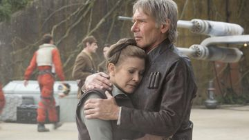 Carrie Fisher ja Harrison Ford 2015