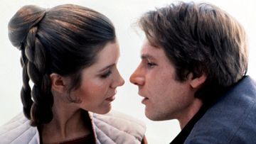 Carrie Fisher ja Harrison Ford 1980