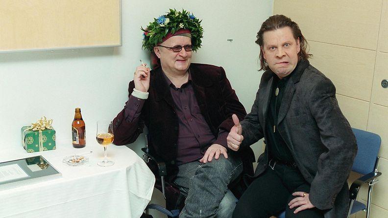 Juice Leskinen ja Pate Mustajärvi Juicen 50-vuotisjuhlakonsertissa 23.2.2000