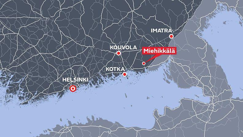 miehikkälä kartta