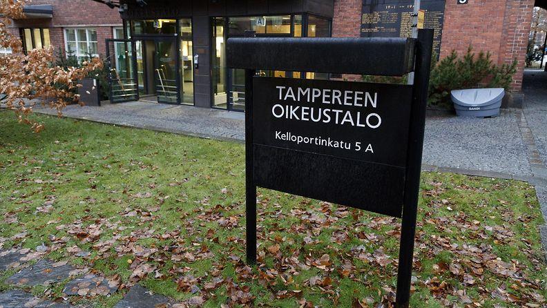 Tampereen oikeustalo kuvituskuva marraskuussa