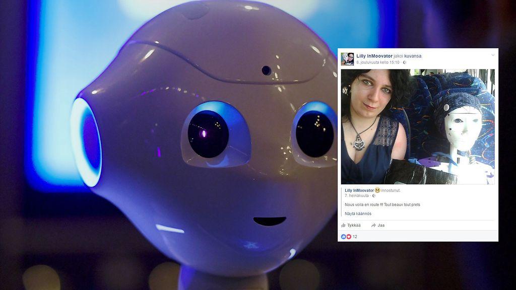 Japanilainen robotti suku puoli nukke