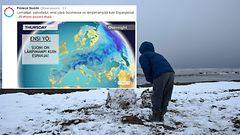 Pahoittelut lomailijoille: Espanjassa on nyt lunta ja kylmempää kuin Suomessa – nurinkurinen sääilmiö vain kerran vuosikymmenissä