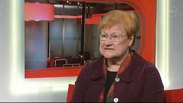 Presidentti Tarja Halonen Uutisextrassa
