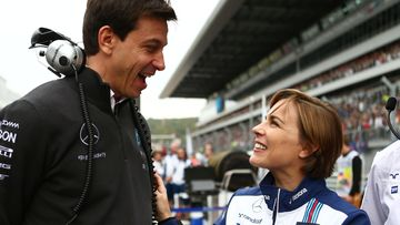 Toto Wolff ja Claire Williams