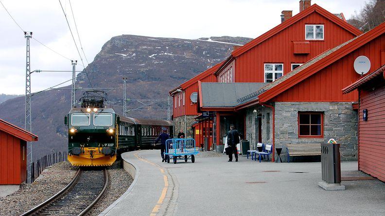 Myrdal_Station_with_Flåmsbana_train