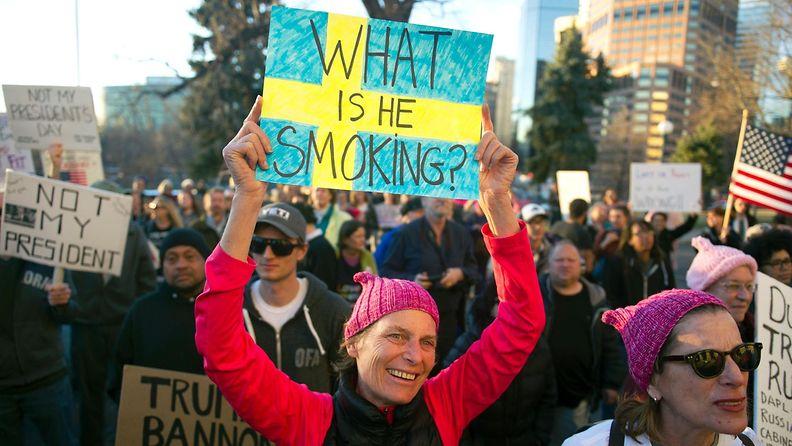 Trump Ruotsi protesti
