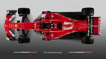 Ferrari SF 70H ylhäältä