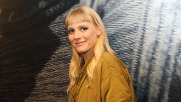 Laura Birn East of Sweden -kuvauksissa Studio Pasilassa 28.2.2017 1