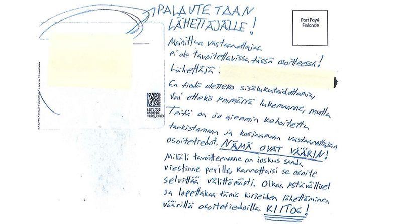 LSTJ väärin jaettu kirje