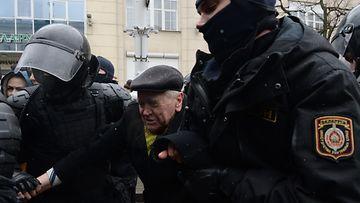 Valko-Venäjä mielenosoitus