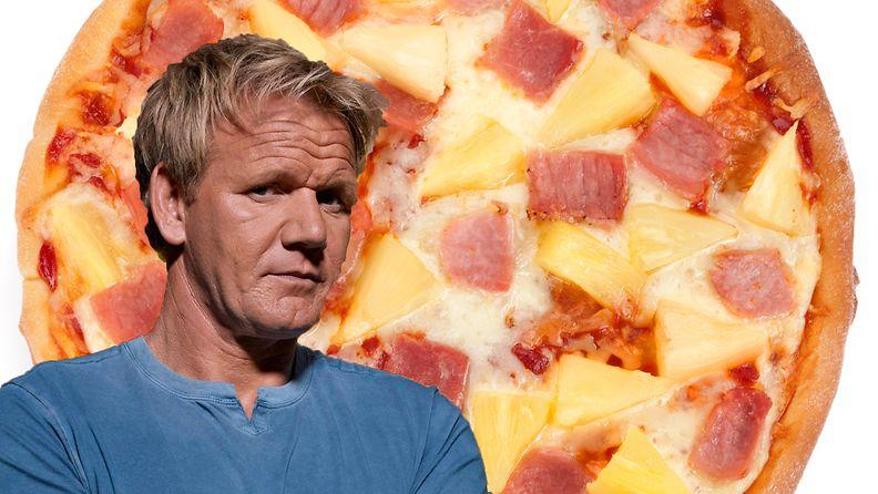 Gordon ramsay Ananas pizza