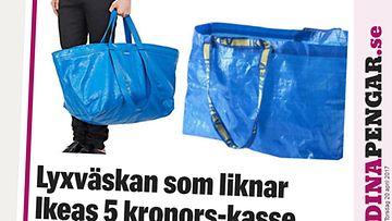 Tämä luksuslaukku on kuin Ikean sininen kassi – hintalappu voi kuitenkin  järkyttää! ce471942f5