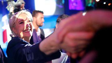 Le Pen vaalien ensimmäisellä kierroksella