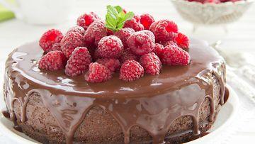suklaakakku vadelma
