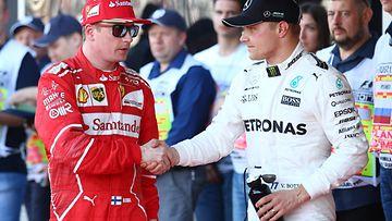 Kimi Räikkönen ja Valtteri Bottas